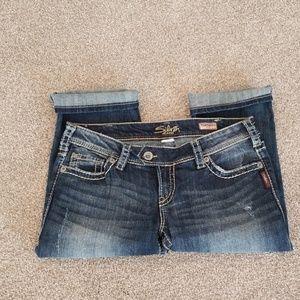 Silver jeans Tuesday capri 30/19